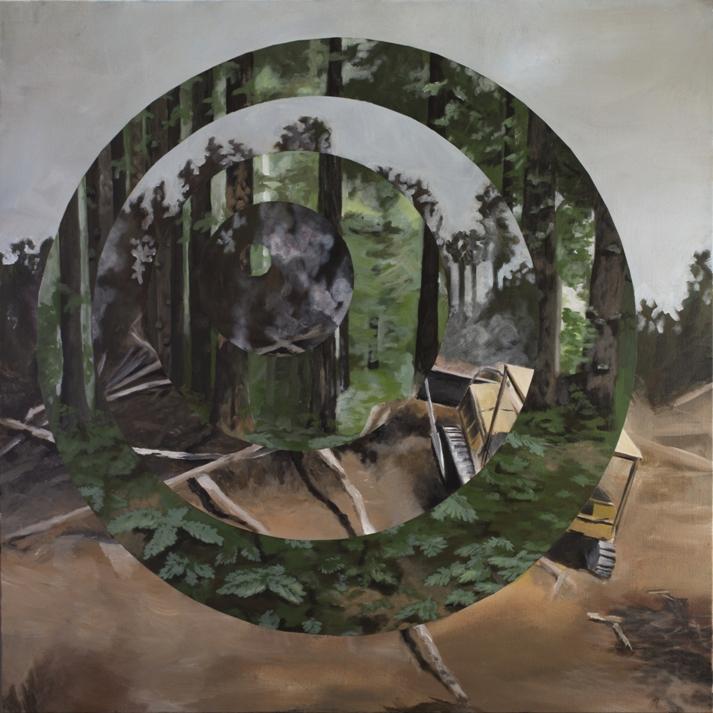 """Destruction of Habitat"" 3'x3'(SOLD)"
