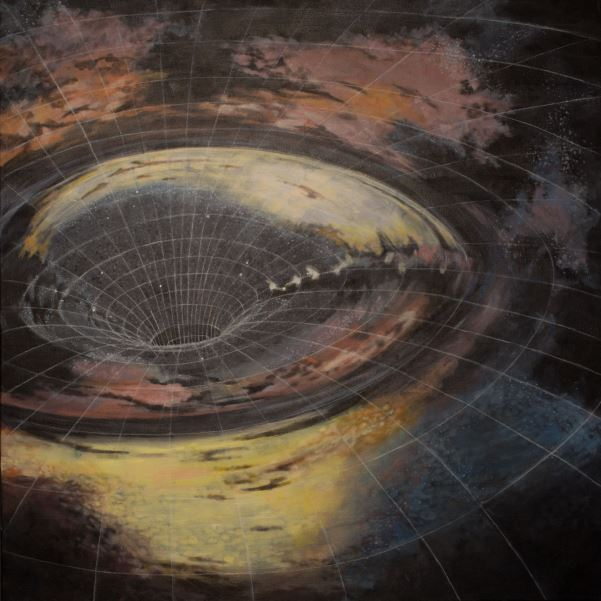 """Black Hole"" 3'x3' 2015"