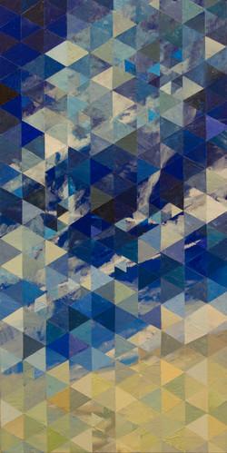 """Diffracting Sky"" 2016 15""x30"""