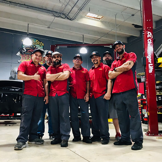 The Little Shop of Hot Rods and Auto Accessories Crew