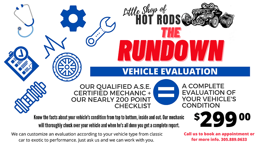 Get a 200 point Vehicle Evaluation conducted by ASE certified mechanic.