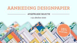 Designpapier in de aanbieding