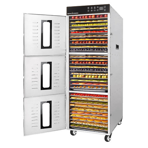 3 Zone - 30 Tray Commercial Food Dehydrator - 53 sq.ft Tray Area