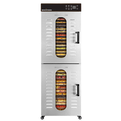 2 Zone Upright - 32 Tray Commercial Food Dehydrator - 55 sq.ft Tray Area