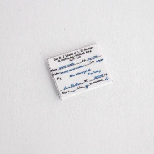12th Scale Prescription Pad