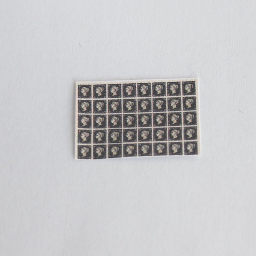 12th Scale Stamp Sheet, Penny Black