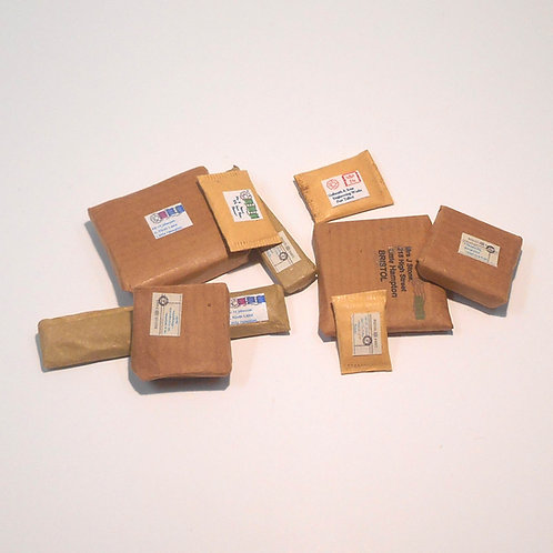 12th Scale Brown Parcels Set of 3
