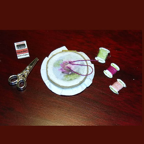 12th Scale Embroidery Set with Hoop