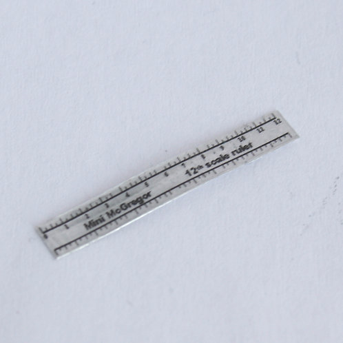 12th Scale Metal Ruler
