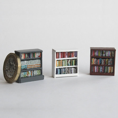 48th Scale Low Bookcase 3 Shelves