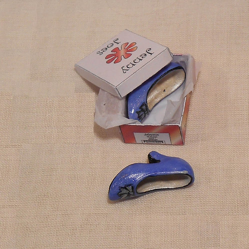 12th Scale Purple Shoes in Box Ladies