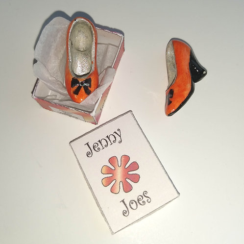 12th Scale Orange Shoes in Box Ladies
