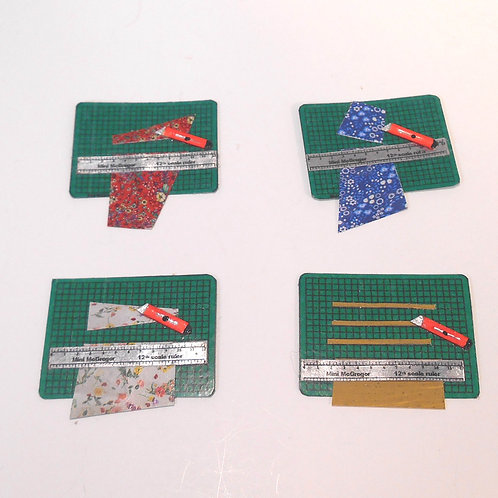 12th Scale Cutting Mat - in use with Craft Knife