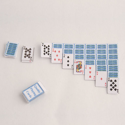 12th Scale Solitaire Patience Layout