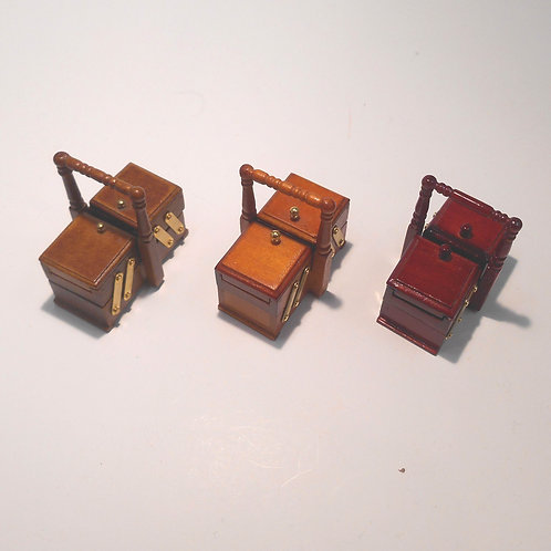 12th Scale Sewing Box Filled