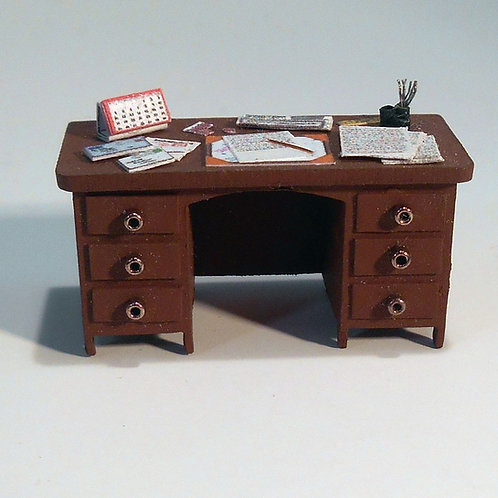 48th Scale Dressed Desk