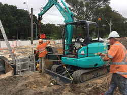 Construction site safety line