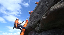 Emergency services cliff rescue