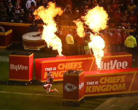Kansas City Chiefs wide receiver Tyreek Hill (10) pregame introduction