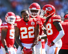 Kansas City Chiefs cornerback Marcus Peters (22)