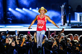 Country music super star Kenny Chesney entertains fans at Arrowhead Stadium in 2016