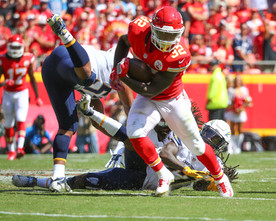 Kansas City Chiefs running back Spencer Ware (32)