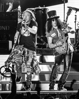 Axl Rose and Slash of Guns N Roses performing at Arrowhead Stadium in 2016