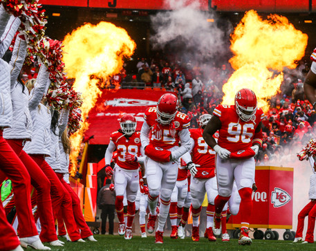 Kansas City Chiefs player introductions and runouts