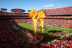 Kansas City Chiefs player intros and pyro