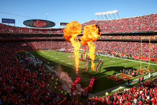 Kansas City Chiefs player intros and pyro