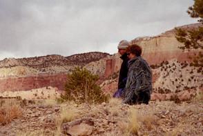 Walking at Ghost Ranch, NM