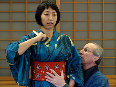 Keiko Tsujino with Bruce Fertman in Kyoto, Japan