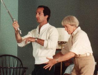 Marj Barstow with Bruce Fertman