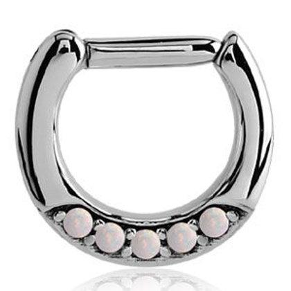 Opal 5 Gem Septum Ring
