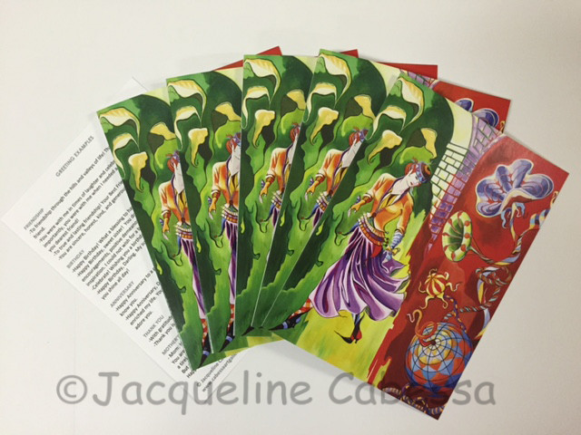 All note cards come with a list of 12 greetings and matching envelopes in a clear gift box