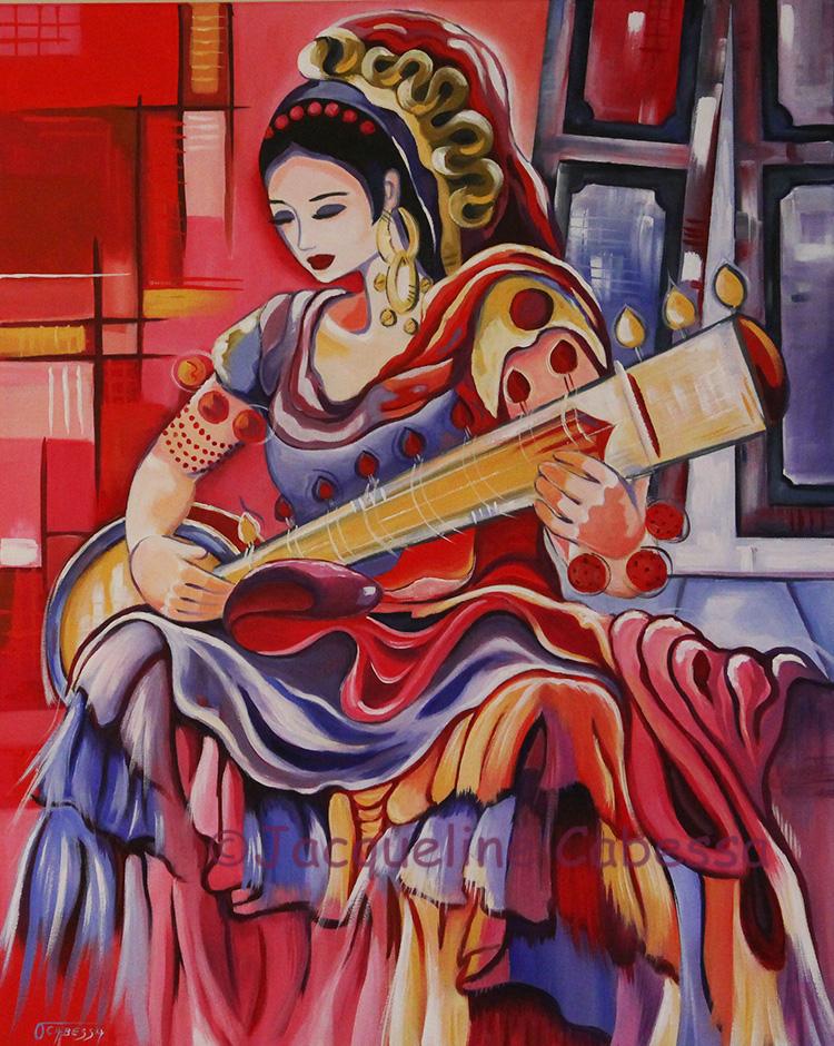 Femme a la Sitar