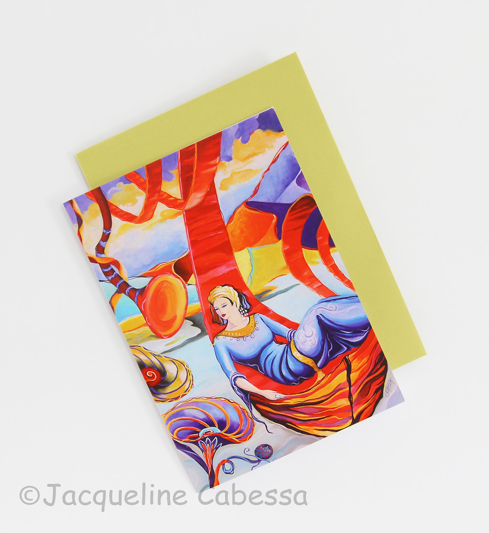 Desert Song: Folded note card with curry envelope