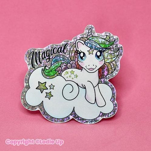Magical Unicorn - Sticker Pailleté - Autocollant Vinyl