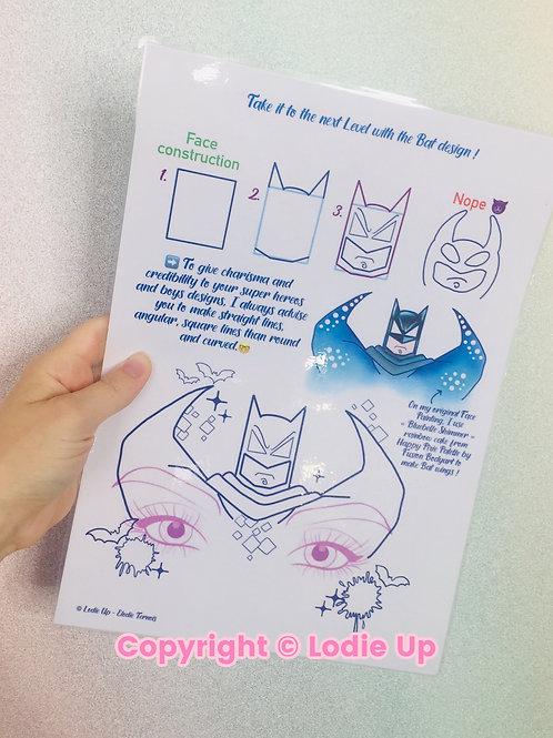 """""""Bat"""" - Feuille de pratique pour le Face Painting"""