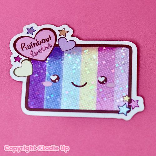 Rainbow Lovers - Sticker Pailleté - Autocollant Vinyl