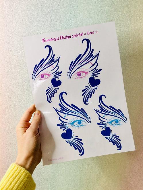"""Planche d'entrainement - Teardrops Design spécial """"Love"""""""