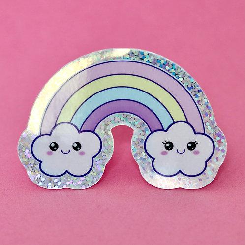 Cute Rainbow - Sticker Pailleté - Autocollant Vinyl
