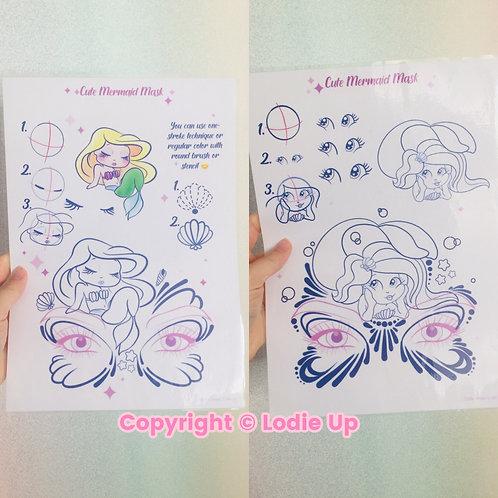 """""""Mermaids Collection"""" - Feuilles de Pratique pour le Face Painting"""