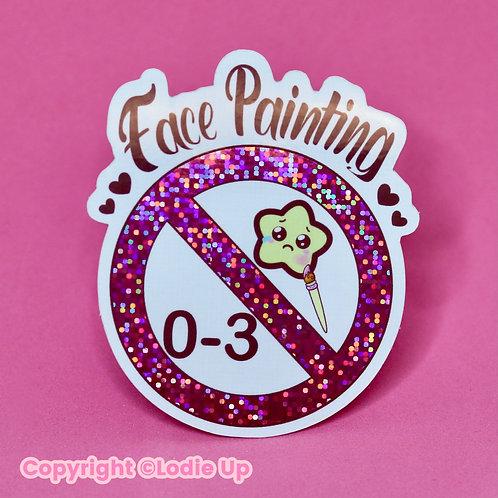 Face Painting 🚫 0-3 - Sticker Pailleté - autocollant Vinyl