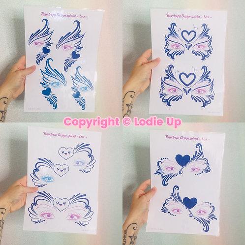 """""""Love Teardrops"""" Collection - Feuilles de Pratique pour le Face Painting"""