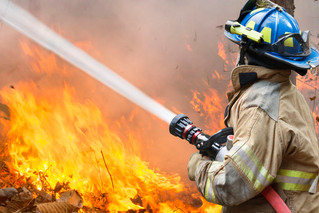 Electrical fault causes fire on farm.