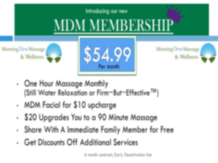 Morning Dew Massage Membership