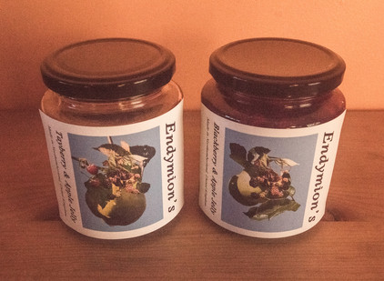 Homemade Jams labelled