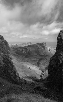 Coming down from the Quiraing. UK.