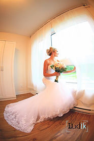 Robe de mariée bohémienne